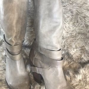 Fergie over the knee grey boots